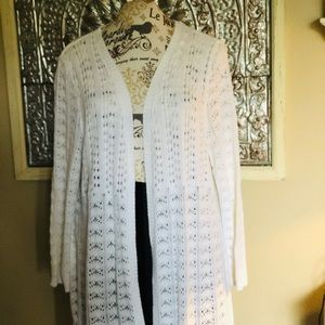 Woman Within Long Sleeve White Sweater Size 22/24